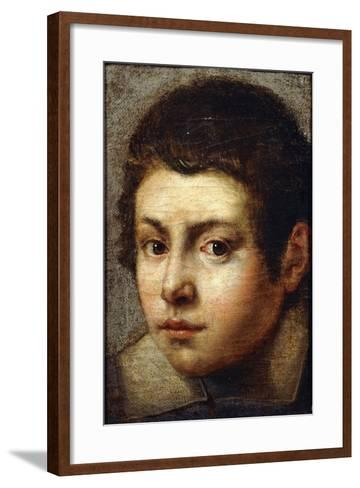 The Head of a Young Boy--Framed Art Print