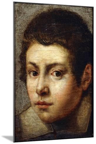 The Head of a Young Boy--Mounted Giclee Print