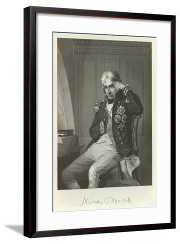 Admiral Lord Nelson--Framed Art Print