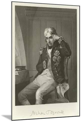 Admiral Lord Nelson--Mounted Giclee Print