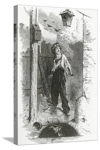 Gavroche, 19th Century-Emile Antoine Bayard-Stretched Canvas Print