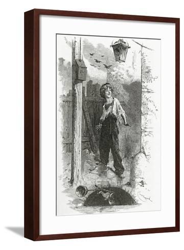 Gavroche, 19th Century-Emile Antoine Bayard-Framed Art Print