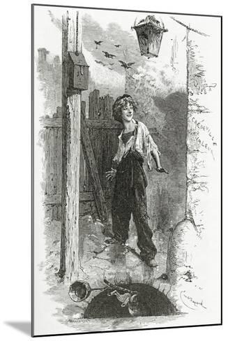Gavroche, 19th Century-Emile Antoine Bayard-Mounted Giclee Print