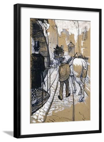 The Coach Driver of the Omnibus Company, 1888-Henri de Toulouse-Lautrec-Framed Art Print