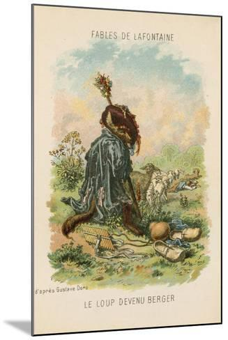 The Wolf Who Played Shepherd-Gustave Dor?-Mounted Giclee Print