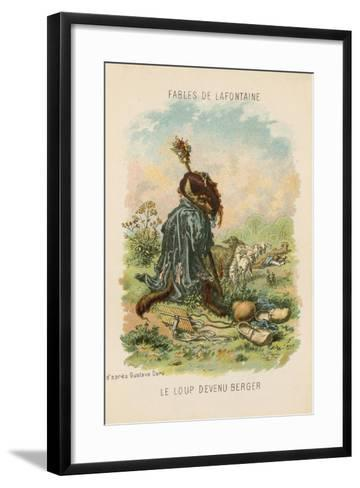The Wolf Who Played Shepherd-Gustave Dor?-Framed Art Print