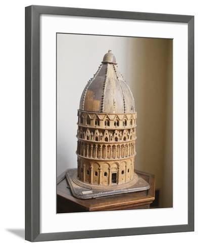 A Model of the Baptistery at Pisa--Framed Art Print