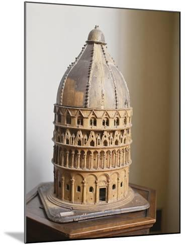 A Model of the Baptistery at Pisa--Mounted Giclee Print