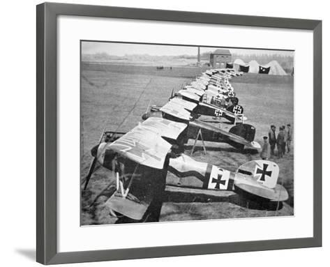 German Aircraft on the Western Front, July 1917--Framed Art Print