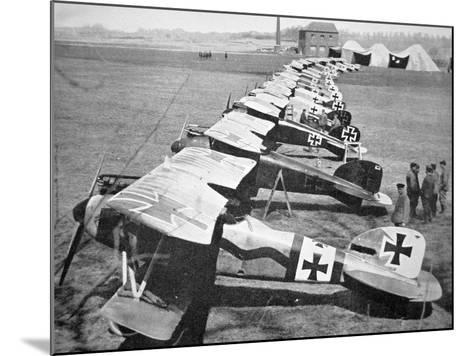 German Aircraft on the Western Front, July 1917--Mounted Photographic Print