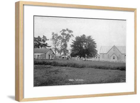 Waipu Presbyterian Chruch and Hall--Framed Art Print
