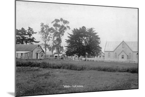 Waipu Presbyterian Chruch and Hall--Mounted Photographic Print