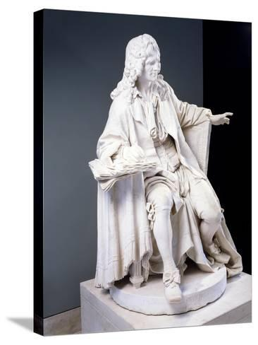 Marble Statue of Moliere--Stretched Canvas Print