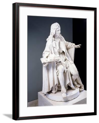 Marble Statue of Moliere--Framed Art Print