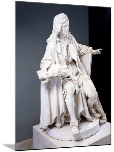 Marble Statue of Moliere--Mounted Giclee Print