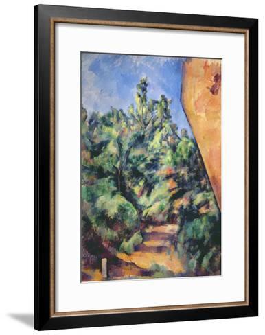 Red Rock, C.1895-Paul C?zanne-Framed Art Print