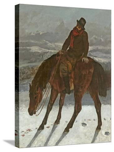 Hunter on Horseback, C.1864-Gustave Courbet-Stretched Canvas Print