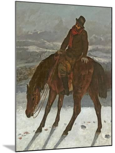 Hunter on Horseback, C.1864-Gustave Courbet-Mounted Giclee Print
