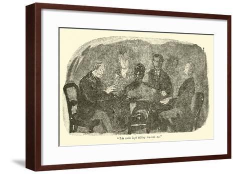 """""""The Table Kept Tilting Towards Me""""-Weedon Grossmith-Framed Art Print"""