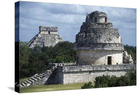 Observatory or El Caracol, Chichen Itza--Stretched Canvas Print
