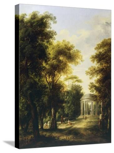 Landscape with Temple-Giovanni Barbieri-Stretched Canvas Print