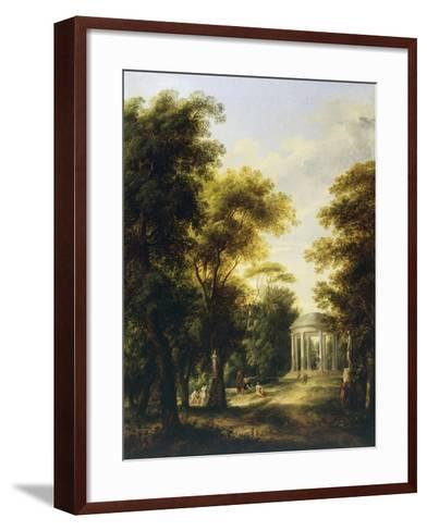Landscape with Temple-Giovanni Barbieri-Framed Art Print