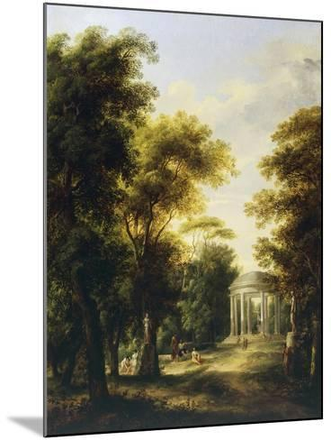 Landscape with Temple-Giovanni Barbieri-Mounted Giclee Print