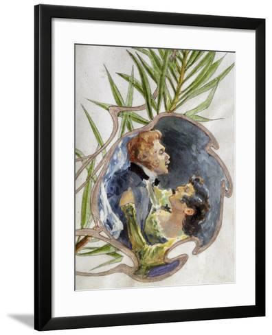 Scene from Tosca, Opera-Giacomo Puccini-Framed Art Print