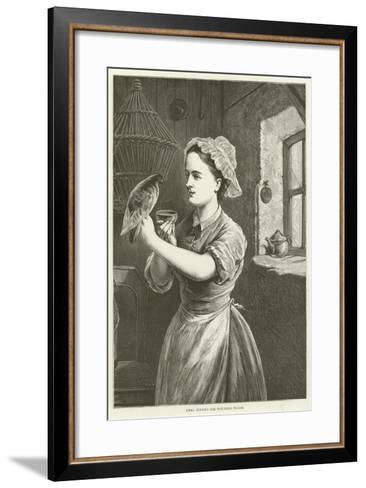 Emma Tending the Wounded Pigeon--Framed Art Print