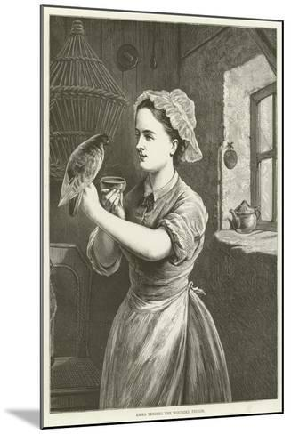 Emma Tending the Wounded Pigeon--Mounted Giclee Print