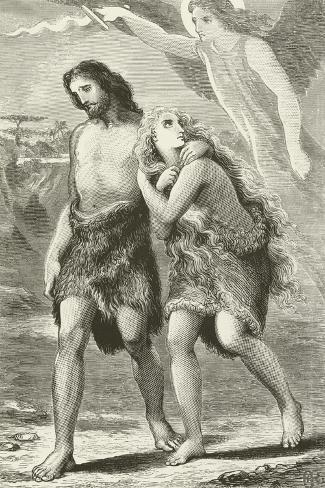 Adam and Eve Driven Out of Eden--Stretched Canvas Print