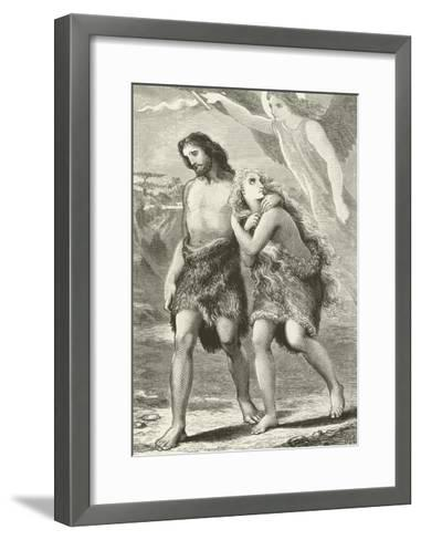 Adam and Eve Driven Out of Eden--Framed Art Print