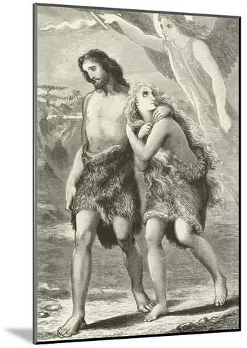 Adam and Eve Driven Out of Eden--Mounted Giclee Print