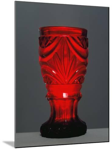Red Glass by Friedrich Egermann--Mounted Giclee Print