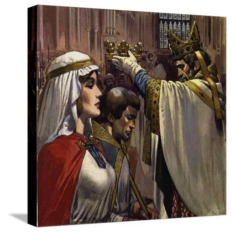 Eleanor Subsequently Married Henry of Anjou-Alberto Salinas-Stretched Canvas Print