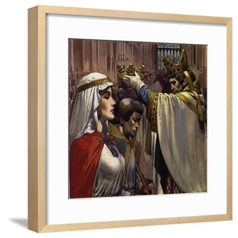 Eleanor Subsequently Married Henry of Anjou-Alberto Salinas-Framed Art Print