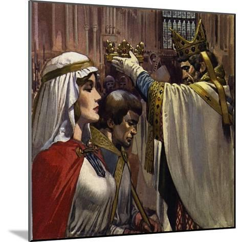 Eleanor Subsequently Married Henry of Anjou-Alberto Salinas-Mounted Giclee Print