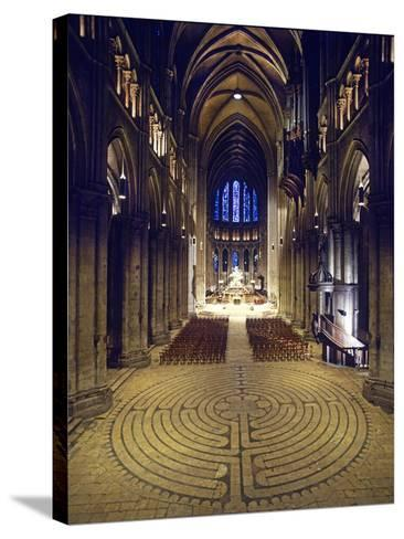 Labyrinth, Chartres Cathedral, France--Stretched Canvas Print