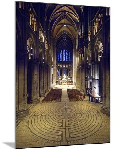 Labyrinth, Chartres Cathedral, France--Mounted Photographic Print