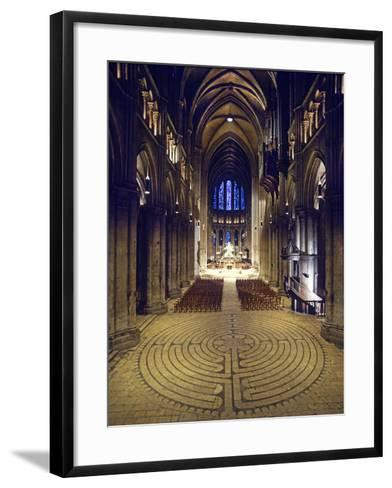 Labyrinth, Chartres Cathedral, France--Framed Art Print