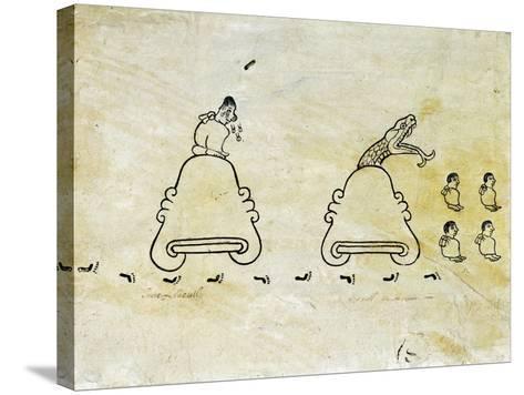 The Boturini Codex Fragment--Stretched Canvas Print