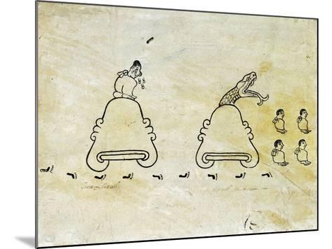 The Boturini Codex Fragment--Mounted Giclee Print