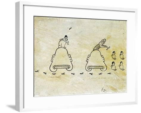 The Boturini Codex Fragment--Framed Art Print