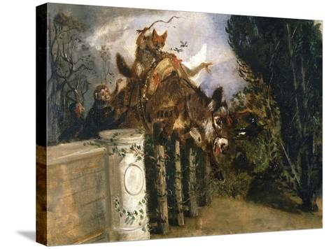 Allegory-Filippo Palizzi-Stretched Canvas Print