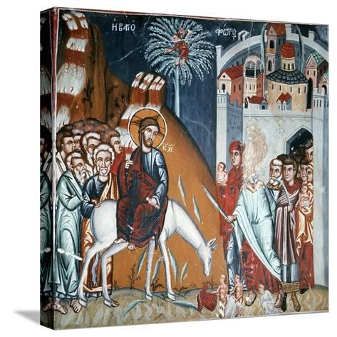 The Entry into Jerusalem-Symeon Axenti-Stretched Canvas Print