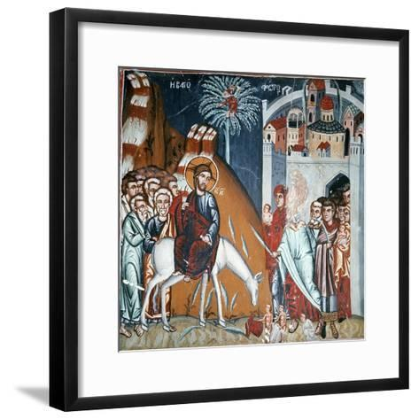 The Entry into Jerusalem-Symeon Axenti-Framed Art Print