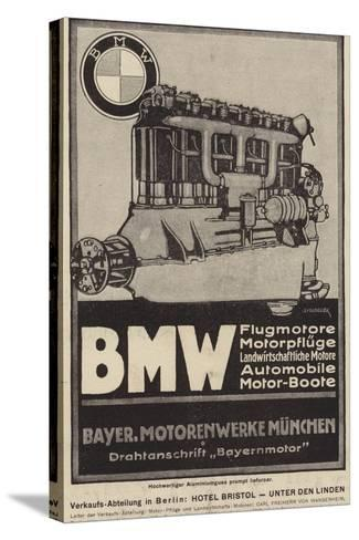 Advertisement for Bmw Engines--Stretched Canvas Print