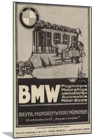 Advertisement for Bmw Engines--Mounted Giclee Print
