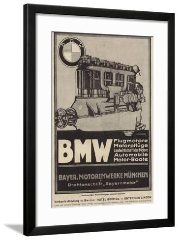 Advertisement for Bmw Engines--Framed Art Print