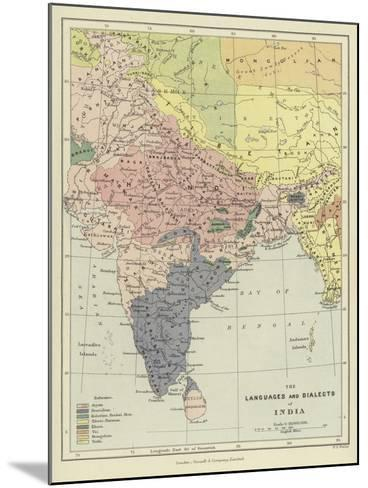 The Languages and Dialects of India--Mounted Giclee Print